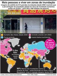 METEOROLOGIA: Aumento das áreas em risco de inundação infographic