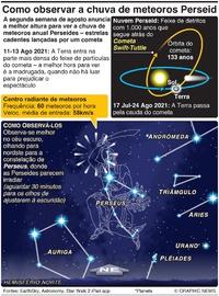 ESPAÇO: Como observar a chuva de meteoros Perseides infographic
