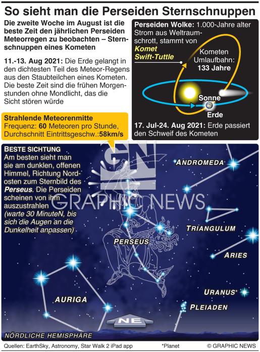 Wie man die Perseiden am besten sehen kann  infographic