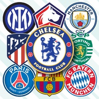 SOCCER: UEFA Champions League 2021-22 crests (1) infographic