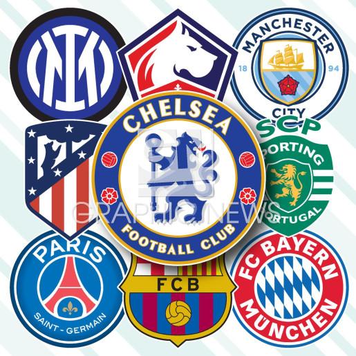 UEFA Champions League 2021-22 crests (1) infographic