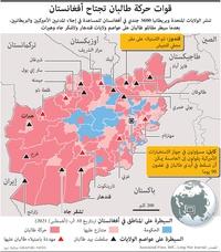 أفغانستان: قوات حركة طالبان تجتاح أفغانستان (1) infographic
