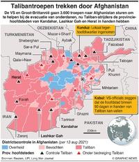 AFGHANISTAN: Taliban bedreigen provinciehoofdsteden (1) infographic