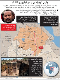 صراع: رئيس الوزراء أبي يدعو الإثيوبيين للقتال infographic