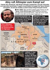 KONFLICT: Äthiopiiens PM fordert Zivilisten zum Beitritt in die Armee auf  infographic