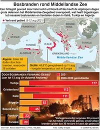 RAMPEN: Bosbranden rond de Middellandse Zee infographic
