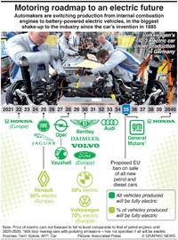 MOTORING: Roadmap to an electric future infographic