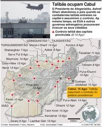 AFEGANISTÃO: Cabul cai para os talibãs (1) infographic