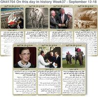 تاريخ: حدث في مثل هذا اليوم - 12 - 18 أيلول - الأسبوع 37 infographic