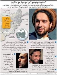 عسكري: أحمد مسعود - بطاقة تعريف infographic