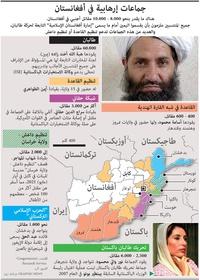 عسكري: جماعات إرهابية في أفغانستان infographic