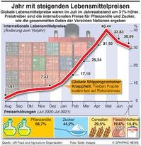 WIRTSCHAFT: Globale Lebensmittelpreise infographic