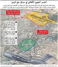 عسكري: الجسر الجوي الأفغاني في سباق مع الزمن infographic