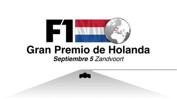 F1: GP de Holanda 2021 Video infográfico infographic