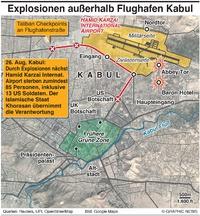 MILITÄR: Angriffe vor Flughafen Kabul infographic