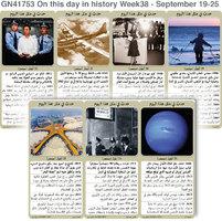 تاريخ: حدث في مثل هذا اليوم - 19 - 25  أيلول - الأسبوع 38 infographic