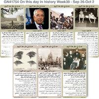 تاريخ: حدث في مثل هذا اليوم - 26 أيلول 2 تشرين الأول - الأسبوع 39 infographic