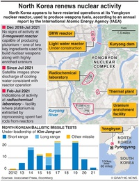NORTH KOREA: Yongbyon nuclear plant activity infographic