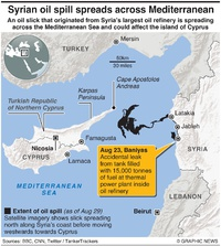 MIDEAST: Syria oil spill infographic