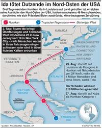 WETTER: Sturm Ida setzt New York unter Wasser infographic