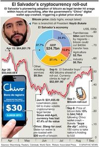BUSINESS: El Salvador bitcoin nation infographic