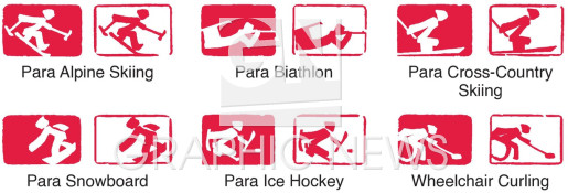 Paralympic pictograms infographic