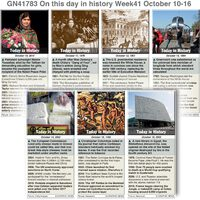 HISTORY: On this day October 10-16 2021 (week 41) infographic