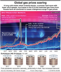 ENERGY: Natural gas costs at record high infographic