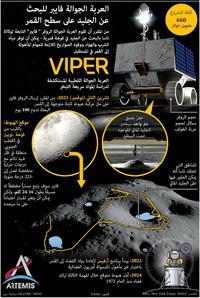 فضاء: العربة الجوالة فايبر للبحث عن الماء المثلج على سطح القمر infographic