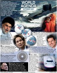 WORLD AGENDA: October 2021 infographic