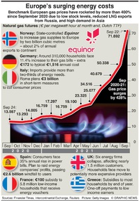 BUSINESS: Gas price soars infographic