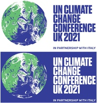 CLIMATE: COP26 – Conference logo infographic