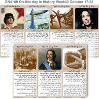 تاريخ: حدث في مثل هذا اليوم - 17 - 23  تشرين الأول - الأسبوع 42 infographic