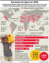 CLIMA: Stress hídrico global infographic