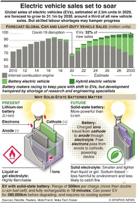 MOTORING: Electric vehicles sales set to soar infographic
