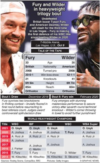 BOXING: Fury-Wilder heavyweight title fight infographic