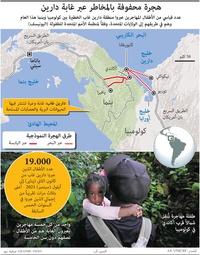 أميركا اللاتينية: هجرة محفوفة بالمخاطر عبر غابة دارين  infographic