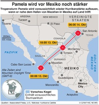 WETTER: Tropensturm Pamela infographic