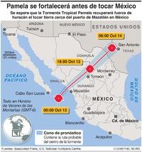 CLIMA: Tormenta Tropical Pamela infographic