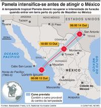 METEOROLOGIA: Tempestade tropical Pamela infographic