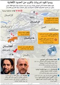 عسكري: روسيا تقود تدريبات بالقرب من الحدود الأفغانية infographic