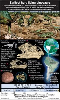 SCIENCE: Earliest herd living dinosaurs infographic