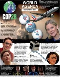 WORLD AGENDA: November 2021 infographic