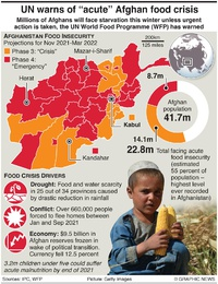 AFGHANISTAN: UN warns of acute food crisis infographic