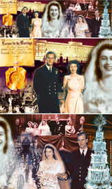 Royal anniversary montage infographic
