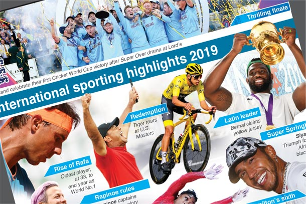A look back at some of the sporting highlights of 2019