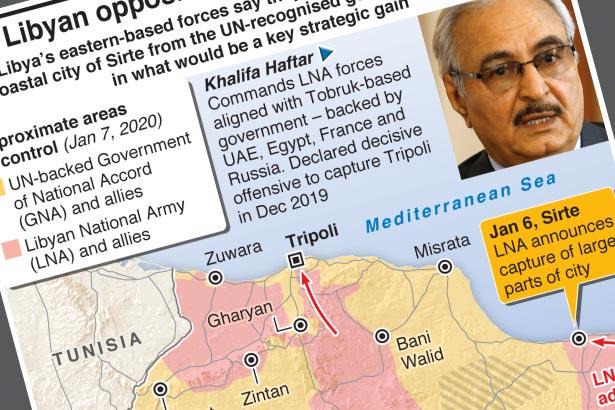 Libya's east-based forces say key coastal city captured