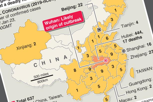 China closes cities to stop spread of deadly virus