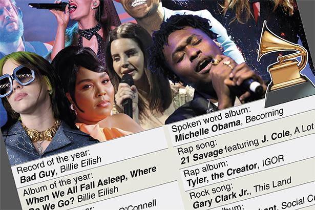 Billie Eilish and Lizzo sweep Grammy Awards
