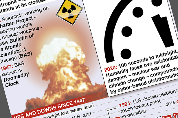 Doomsday Clock nears apocalypse